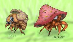 Paras and Parasect by RtRadke.deviantart.com on @DeviantArt