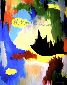 Fly Beyond the Rainbow Painting Print on Wrapped Canvas