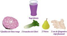 Pour ce 5ème jour de détox de début d'année, découvrez la recette pour un jus au chou rouge, que vous pourrez réaliser avec votre extracteur de jus