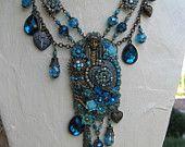 Be Still my Gypsy Heart - OOAK altered Art necklace by artist J.S. Merrick