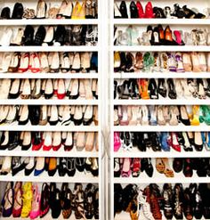 My weakness is shoes. I organize them by designer. My favorites are Christian Louboutin and Alaïa.