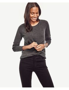 wool-cashmere-tunic-sweater by ann-taylor. #fashiontrend #fashionable #gorgeous #shoptagr