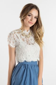 4a1970ac0f6ed Leighton White Sleeveless Lace Top in 2018
