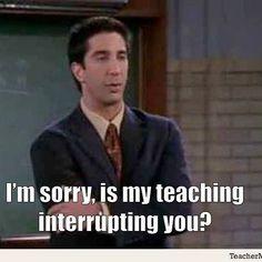 Ross! Who would interrupt Ross? #sorrynotsorry #weareteachers #teachersofinstagram #teachersfollowteachers #teachersofig #iteachtoo #teachers