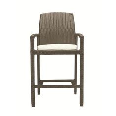 "Tropitone Evo 29.5"" Bar Stool with Cushion Cushion Color: Cardamon, Frame Finish: Kaffe"