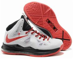 Discount Nike Lebron 10 White Red