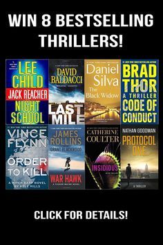 Win 8 Paperback Thriller Novels!