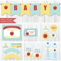 Baby Shower Decorations Package  A is for by HauteChocolateFavors, $20.00
