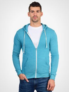One of the most stylish and comfortable hoodies you can buy. Made of ultra soft eco-fleece. Part of the Alternative Earth line of eco friendly products. - Contrasting white drawstring and zipper track