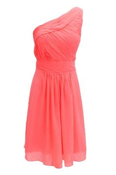 Gorgeous Bridal Chiffon One Shoulder Short Bridesmaid Dresses ...