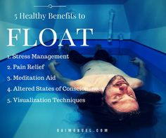 Reasons to float in a sensory deprivation tank.  Holiday gift cards available now at all Float House locations!