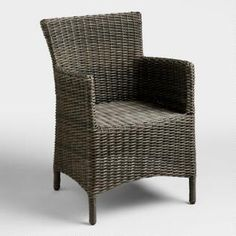 Gray All Weather Wicker Solano Armchair