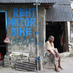 Nusa Lembongan Island off Bali. Rent motor bike cost around USD8 per all day.