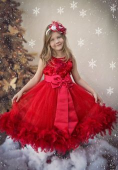 Couture Holiday Red Feather Gown