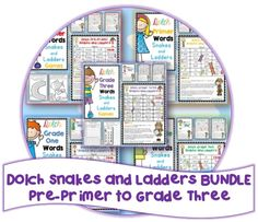 6 games to help revise all Dolch words plus an editable file (Word Doc.) to create a game using your own set of words.