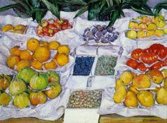 """Fruits sur un étalage"" -- 1882 -- Gustave Caillebotte -- French -- Oil on canvas -- Museum of Fine Arts, Boston"