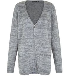 "Brave Soul. Get the ideal autumn cover up with this grey zip up cardigan - try wearing over a khaki cami, blue skinny jeans and burgundy heeled ankle boots.- Soft knitted fabric- Zip up front- Simple long sleeves- V neck- Casual fit- Front pocket detail- Model is 5'8""/176cm and wears UK 10/EU 38/US 6"