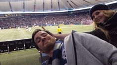 "#OUAT Behind the scenes with Colin O'donoghue and Jennifer Morrison! ""@colinodonoghue1: Go WHITECAPS!  @WhitecapsFC @jenmorrisonlive"""