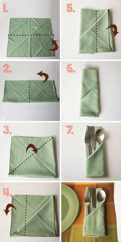 diy napkin folding Simple and Creative DIY Wedding Napkin Fold Designs Diy Wedding Napkins, Wedding Napkin Folding, Cloth Napkin Folding, Christmas Napkin Folding, Folding Napkins, Serviettes Roses, Dining Etiquette, Etiquette And Manners, Magnifier