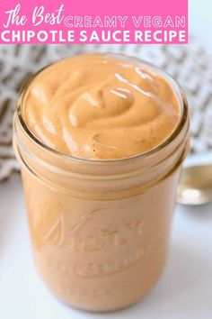 Made with a creamy cashew base, this Vegan Chipotle Sauce is incredibly flavorful and velvety smooth. It's easy to make in 5 minutes and perfect for topping Mexican style bowls and salads! Learn how to make this easy homemade sauce and drizzle it on top of burrito bowls and taco bowls! Vegan Chipotle Sauce Recipe, Homemade Chipotle, Homemade Sauce, Gluten Free Sauces, Vegan Sauces, Healthy Sauces, Healthy Foods, Taco Bowls, Burrito Bowls