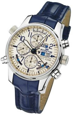 Fortis F-43 Flieger Limited Edition Chronograph Alarm GMT #Inspired Watch #men watch