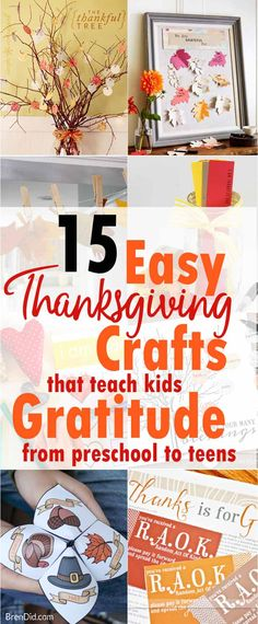 Easy Thanksgiving Crafts That Teach Kids about Gratitude, Gratitude Activity for kids, Thanksgiving crafts, Teach kids gratitude and thankfulness w/ easy Thanksgiving  crafts that helps kids to express gratitude. Free printable activities from preschool to teen.