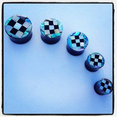 WONDERLAND CIRCLE: Water Buffalo Horn Plugs w/ Mother-of-Pearl and Abalone Inlay on Etsy, $29.99