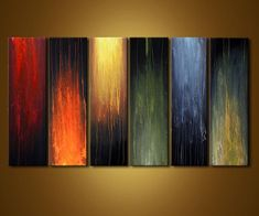Original abstract art paintings by Osnat - home decor painting: