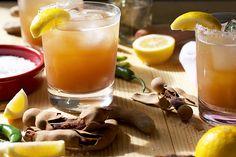 Tamarindo Y Tequila: reposado tequila, orange liqueur, lemon, simple syrup, tamarind puree, serrano chile, sea salt