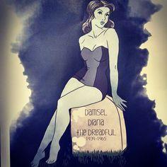Damsel Diana the Dreadful. Descanse em paz Daiana Darling #paz #peace #pinup #morte #muerte #death #LaDeh #Parla! #vbatalha