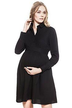 bc8b9c3ad3eeb Federica Maternity Dress Long Sleeve Knee Length Tie Belt By Nothing But  Love 4 black *