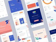 Flipd App Redesign ♛♛-- Visit shop App design HERE - ♛♛ design insp. Web Design, App Ui Design, Interface Design, Layout Design, Food Design, Graphic Design, Dashboard Design, Web Layout, User Interface