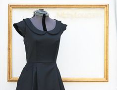 little black dress  with peter pan collar by MichyLouDotCom