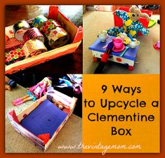 Upcycling a clementine box!