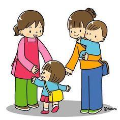 Preschool Routine, The Joys Of Motherhood, Image Clipart, Art Drawings For Kids, Preschool Printables, I School, Cute Illustration, Teaching Kids, Kids Playing