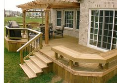 The pergola kits are the easiest and quickest way to build a garden pergola. There are lots of do it yourself pergola kits available to you so that anyone could easily put them together to construct a new structure at their backyard. Backyard Patio Designs, Backyard Pergola, Pergola Designs, Pergola Ideas, Patio Ideas, Landscaping Ideas, Cheap Pergola, Backyard Deck Ideas On A Budget, Outdoor Decking