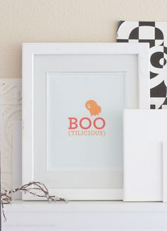 """Boo-tilicious"" Halloween Printable Wall Art"