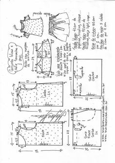 Amazing Sewing Patterns Clone Your Clothes Ideas. Enchanting Sewing Patterns Clone Your Clothes Ideas. Baby Dress Patterns, Kids Patterns, Sewing Patterns Free, Clothing Patterns, Sewing Tutorials, Sewing Projects, Fashion Sewing, Kids Fashion, E 38