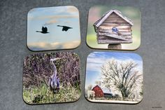 Most popular items - Wooden Scenic and/or Wildlife coasters , set of 4, Bar, wood, gift for mom, Wedding Party Gifts, trending, home accents by PicturesFromHeaven on Etsy