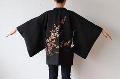 veste de kimono Haori kimono noir kimono japonais par LitreJapan