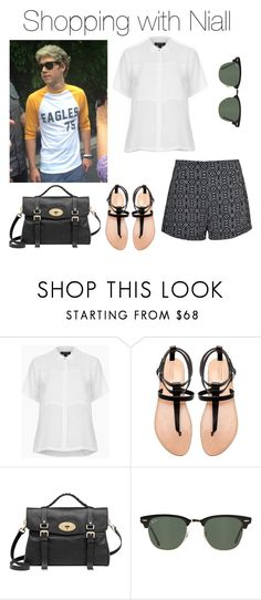 """Shopping with Niall"" by outfits-with-one-direction ❤ liked on Polyvore featuring Gosh, Topshop, Zara, Mulberry and Ray-Ban"