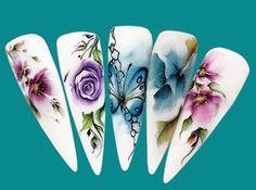 ÚJ! ROYAL ZSELÉK ÉS SZÍNES ZSELÉK DÍSZÍTÉSI LEHETŐSÉGEI ... Swirl Nail Art, 3d Nail Art, 3d Nails, Pink Nails, Acrylic Nails, Uñas One Stroke, One Stroke Nails, Flower Nail Designs, Nail Art Designs