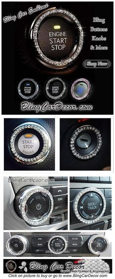 Dazzling rhinestone bling rings for Button & Key… girly car Cool Cars girly Shop Bling Car Emblem Stickers. Dazzling rhinestone bling rings for Button & Key… girly car Bling Car Accessories, Car Accessories For Women, Accessories Shop, Audi Tt, Ford Gt, Volvo, Peugeot, Volkswagen, Car Interior Decor