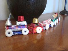 This cute Life Saver Candy Train or Candy Train ornament is an easy Christmas craft for kids.