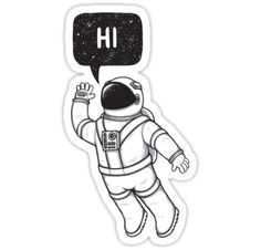 """Greetings from space"" Stickers by zula 