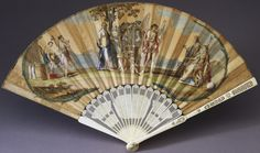 Fan depicting an allegorical scene of the marriage of King George III and Princess Charlotte of Mecklenburg-Strelitz. 1761.