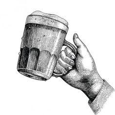 Пить Пиво Рука Пивная Кружка — стоковое фото Beer Shop, Scratchboard, Smoke And Mirrors, Vintage Art Prints, Guitar Art, Line Art, Pop Art, Charcoal, Rings For Men