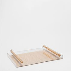 ACRYLIC AND RATTAN TRAY - Trays - Tableware - Home Collection - SALE | Zara Home United States