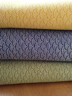"""Japanese fabrics """"seighaia"""" various colors Available at www.karlottapink.com"""