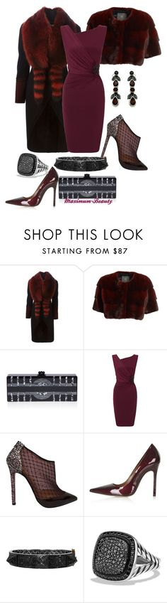 """Steppin' Out"" by maximum-beauty ❤ liked on Polyvore featuring Givenchy, Lilly e Violetta, Edie Parker, Ariella, Christian Louboutin, Topshop, Plukka, David Yurman, Goldmajor and women's clothing"